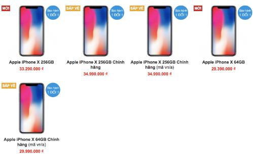 Giá iPhone X xách tay giảm liên tục để chạy đua với hàng chính hãng sắp về.