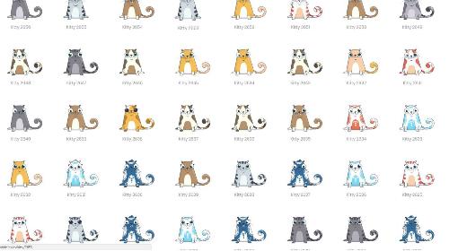 Hàng trăm triệu con mèo có thể được tạo ra trong trò chơi này.