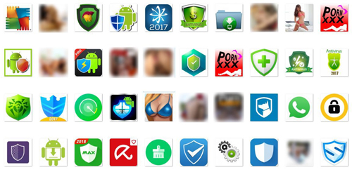 Loapi giả mạo là những ứng dụng diệt virus hoặc ứng dụng khiêu dâm.
