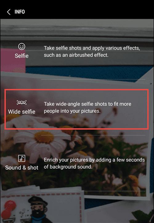 Thông thường, việc chụp panorama (chụp toàn cảnh) chỉ dành cho camera sau, không thể sử dụng cho camera trước. Tuy nhiên, trên Galaxy J7 Pro, điều đó hoàn toàn có thể thông qua tính năng Wide selfie. Với tính năng này, các chủ thể thu được sẽ nhiều hơn, cho hình ảnh ưng ý hơn thay vì phải cần đến một thiết bị có camera ống kính góc rộng khác. Chỉ cần nhấn nút chụp, sau đó hướng ống kính theo phương ngang là được.Đối với camera sau, người dùng cũng có thể chụp panorama sáng tạo. Cách đang được nhiều bạn trẻ yêu thích nhất là phân thân: chụp một ảnh nhưng chủ thể liên tục di chuyển trước khi hướng ống kính đến. Kết quả là, cùng một người nhưng sẽ xuất hiện ở nhiều vị trí trên bức ảnh.