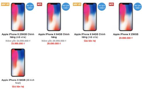 Dù được săn đón ở Việt Nam và luôn bán chạy, iPhone X cũng liên tục được các cửa hàng giảm giá.