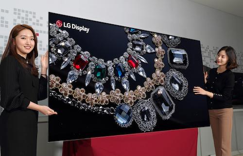 Một mẫu màn hình OLED của LG.