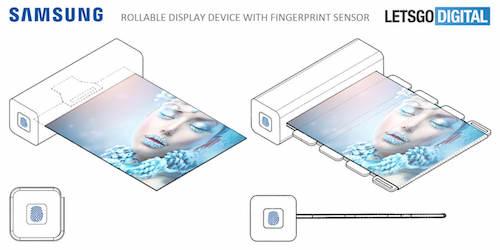 Ngoài màn hình gập linh hoạt, thiết bị có thể tích hợp cảm biến vân tay.
