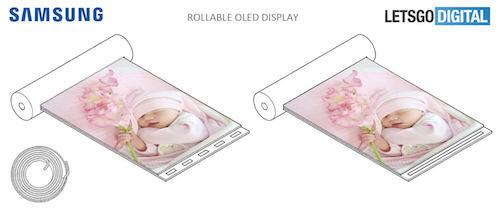 Ý tưởng thiết bịvới màn hình cuộn tròn của Samsung.