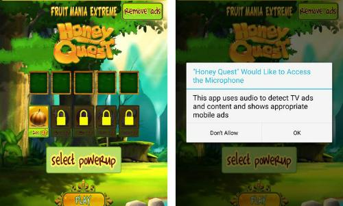 Trò chơi yêu cầu cấp phép sử dụng micro trong khi bản thâncách chơi không cần tương tác.