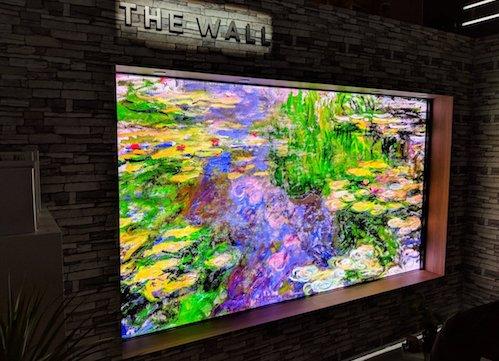 Bức tường của Samsung với công nghệ MicroLED.