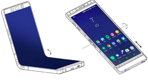 Lộ bản phác thảo Galaxy X màn hình gập của Samsung