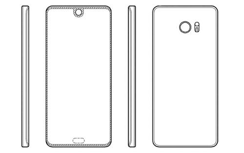 Ý tưởng về smartphone với phần notch nhỏ chứa camera và cảm biến.
