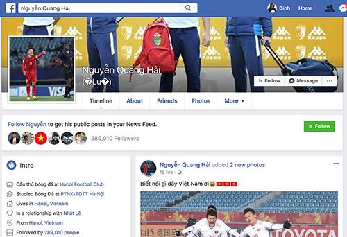 Quang Hải chia sẻ cảm xúc trên mạng xã hội sau trận đấu.