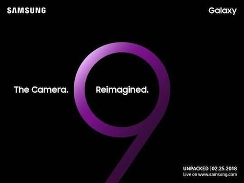 Thư mời sự kiện ra mắt Samsung Galaxy S9.