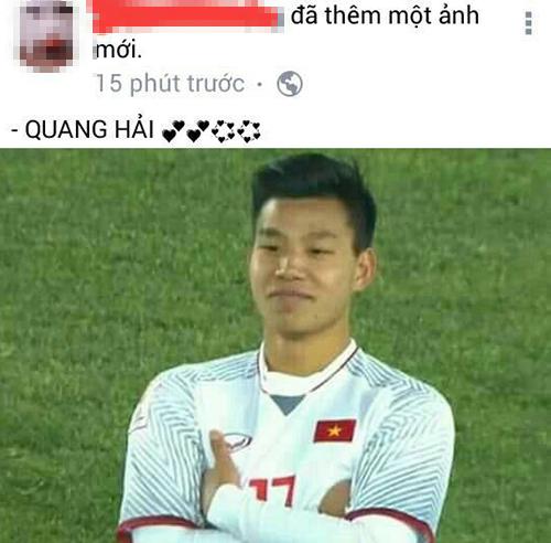 Ảnh là Văn Thanh nhưng chú thích lại gọi tên Quang Hải.