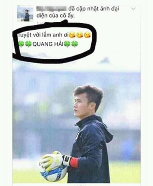 Thủ thành U23 Việt Nam Bùi Tiến Dũng chắc hẳn sẽ rất hạnh phúc khi nhiều người đặt hình anh làm avatar nhưng cũng có chút buồn khibị nhầm tên với Quang Hải.