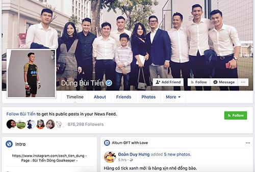 Người dùng mạng xã hội có thểdễ dàng nhận ra Facebook chính chủ nhờ dấu tích xanh.