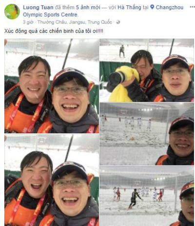 Hình ảnh trên trang cá nhân của tác giả bức selfie nổi tiếng.
