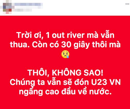 Cảm giác tiếc nuối khi chỉ còn vài giây nữa là cả hai đội bước vào loạt đá penalty. Ở hai trận trước, U23 Việt Nam cũng giành chiến thắng trước loạt đá cân não này.