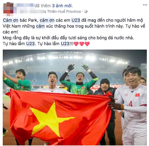 Người hâm mộ bóng đá Việt Nam cũng không thể không cảm ơn huấn luyện viên Park đã lột xác đội tuyển U23 Việt Nam.