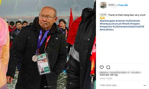 Trên Instagram, người hâm mộ cũng gửi lời cảm ơn đến U23 Việt Nam và huấn luyện viên Park.