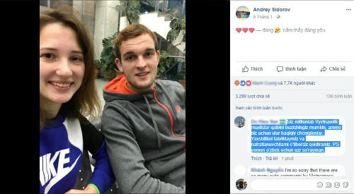 Lượtphẫn nộ, chia sẻtăng đột biến trên hình ảnh của Sidorov và bạn gái.