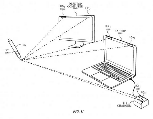Bút stylus của Apple có thể vẽ trong không khí.