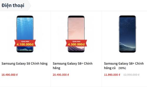 Giá bán thực tế của Galaxy S8 và S8+ chính hãng đã giảm sâu từ trước Tết, khi S9 chưa ra mắt.