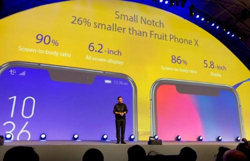 Asus thậm chí còn khoe tai thỏ của họ nhỏ hơn của iPhone X.