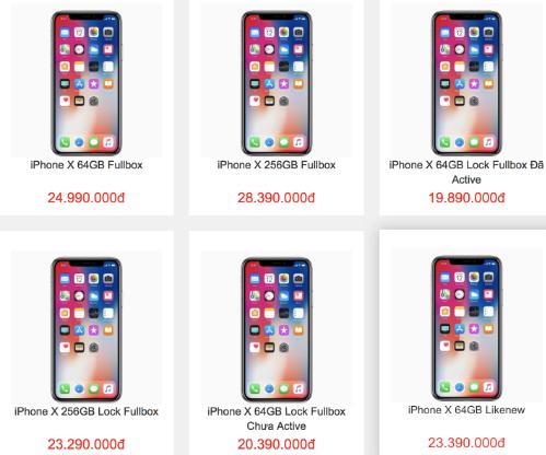 Giá bán iPhone X ở Việt Nam giảm sâu khi có thêm nhiều nguồn hàng.
