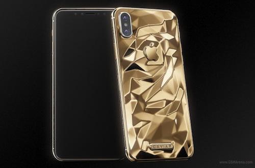 iPhone X mạ vàng của Caviar.