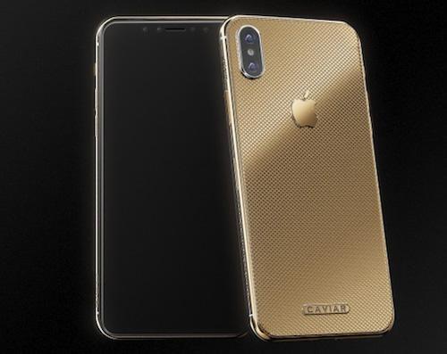 Caviar mạ vàng iPhone X và bán với giá khoảng 5.000 USD.