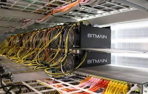 Một hệ thống máy đào tiền điện tử.