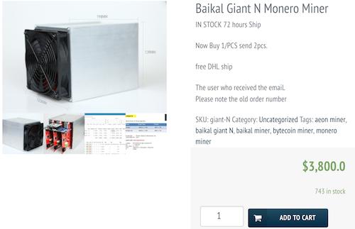 Máy đào tiền điện tử Giant N được chào bán tại Việt Nam giá hơn 90 triệu đồng trong đợt đầu.