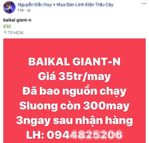 Từ mứctrên 90 triệu đồng, Giant N hiện được chào bán giá khoảng 35 triệu đồng.