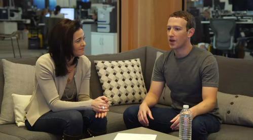 Mark Zuckerberg và Sheryl Sandberg.