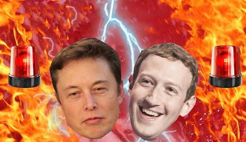Musk (bên trái) và Zuckerberg khẩu chiến nhiều năm nay.