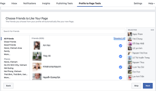 Facebook mới mở lại tính năng chuyển trang cá nhân thành page cho tài khoản Việt Nam.