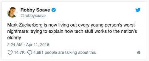 Thượng nghị sĩ Mỹ đưa ra câu hỏi 'ngây ngô' cho Zuckerberg