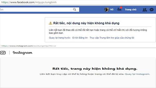 Tài khoản mạng xã hội của ca sĩ Sơn Tùng MTP biến mất