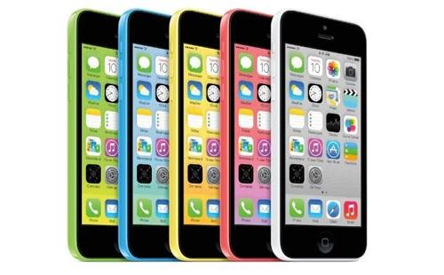 iPhone 5c nhiều màu sắc.