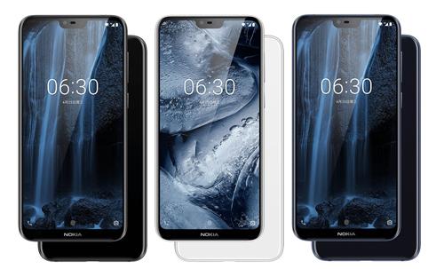 Nokia X6 với ba màu sắc.