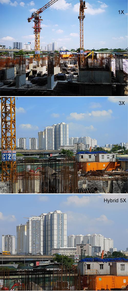 Khả năng zoom linh hoạt nhờ hệ thống 3 camera trên P20 Pro.