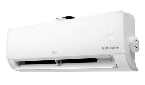 Thiết bị có đèn hiển thị phía trước và cảm biến chất lượng không khí.