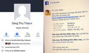 Hoa hậu Thu Thảo và nhiều người nổi tiếng bị hack Facebook