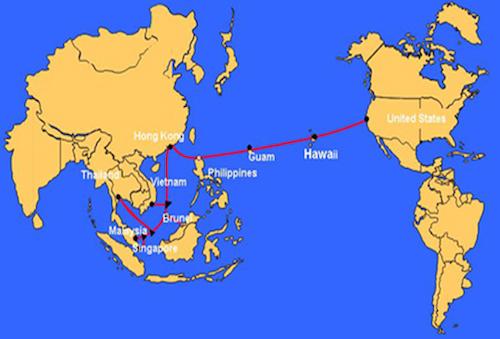 Tuyến cáp quang biển quốc tế AAG.