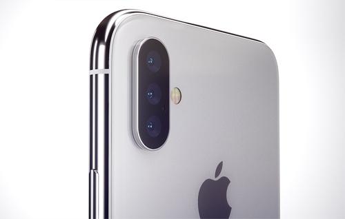 Ý tưởng iPhone X mới với 3 camera phía sau.