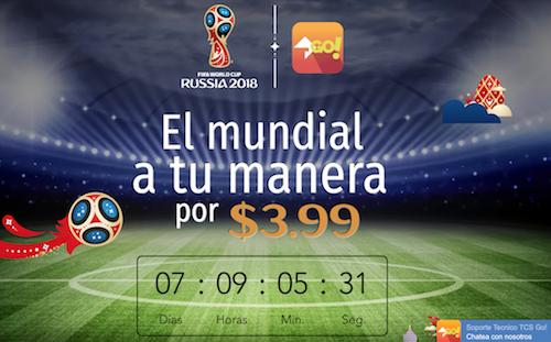 Một dịch vụ OTT quốc tế giới thiệu gói xem World Cup 2018 với mức phí 3,99 USD.