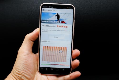 Huawei Nova 3e có kết quả thử nghiệm pin tốt.