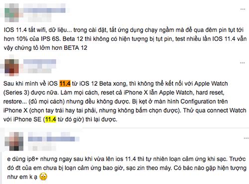 Một số người dùng diễn đàn chia sẻ lỗi vặt trên iPhone sau khi nâng cấp iOS 11.4.