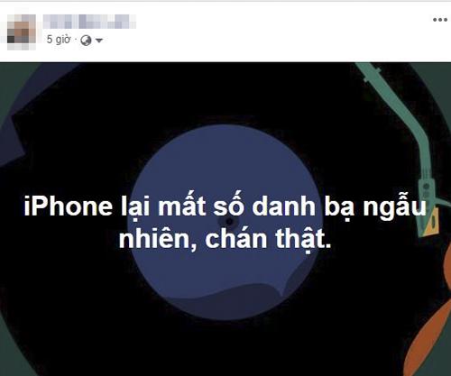 Một người dùng iPhone mất số danh bạ nhiều lần.