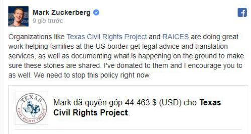 Tính năng lập quỹ trên Facebook cho phép lan truyền thông tin mạnh mẽ, đặc biệt là từ những người nổi tiếng (như ông chủ Facebook).