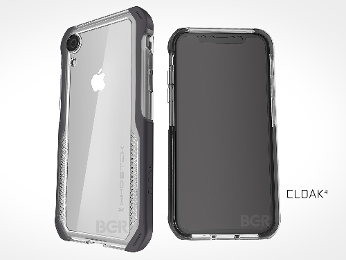 Hình ảnh về mẫu iPhone X phiên bản LCD 6,1 inch với ốp lưng.