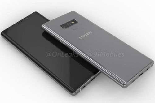 Hình ảnh được cho là Galaxy Note9 sẽ ra mắt vào tháng 8 tới. Ảnh: Onleaks.